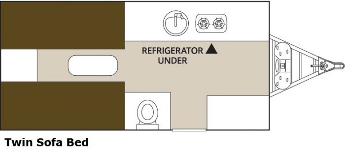 2015 Aliner Ranger 15 - Twin bed floorplan