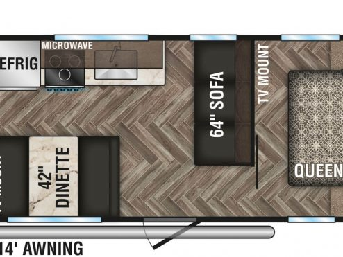 2020-KZ-RV-Sportsmen-SE-260BHSE-Travel-Trailer-Floorplan